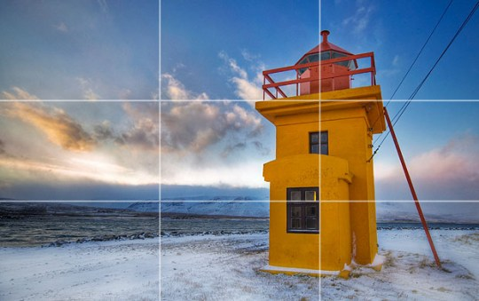 10 Top Photography Composition Rules   Photography Mad Lighthouse with rule of thirds grid