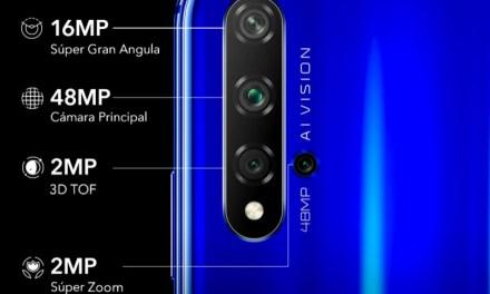 Honor lanza su nuevo smartphone 20 Pro con 4 cámaras incluyendo una Macro y diafragma f/1,4