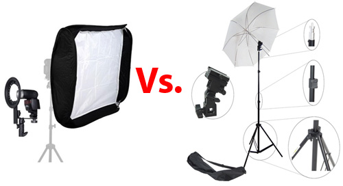 umbrellas and softboxes