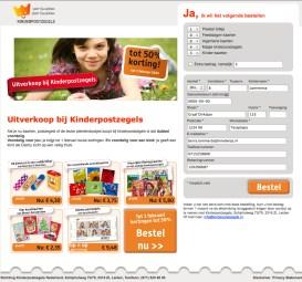 Kinderpostzegels | Landingpage - Design, Photoshop