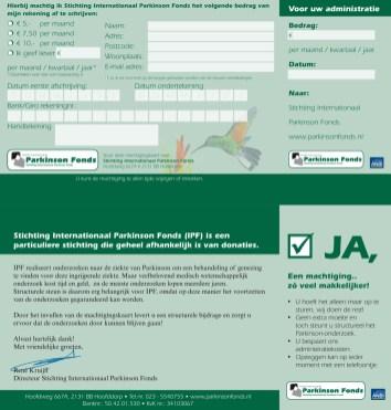 Internationaal Parkinson Fonds | Design, DTP