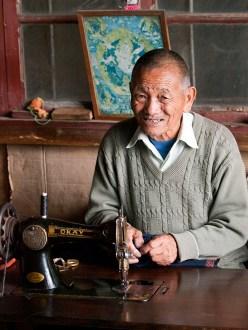 Tibetan refugee in Darjeeling rescue centre