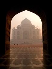 The beautiful Taj Mahal in the morning, Agra - India