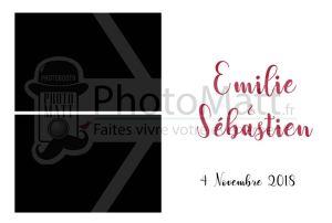Thème photobooth borne photo selfie photomatt mariage simple chic unicolore blanc