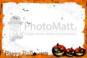 Thème photobooth borne photo selfie photomatt halloween citrouilles araignées fête
