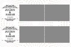 Deux bandes horizontales 5x15cm avec 2 photos