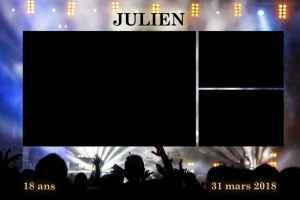 Personnalisation impressions photobooth photomatt presentation templates anniversaire musique scène concert