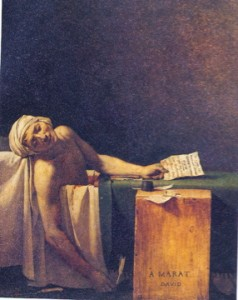 'Death of Marat' by Jacques Louis David