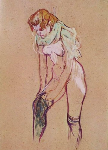 Women Pulling up her Stocking (1894) Toulouse - Lautrec
