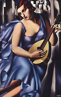 """The Musician"" (1929), oil on canvas by Tamara de Lempicka"