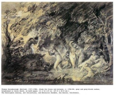 Study for Diana and Actaeon