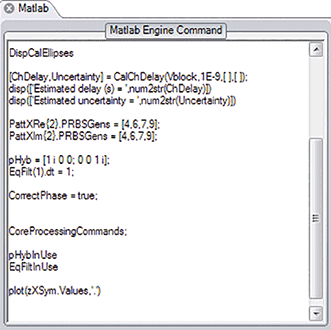 A dynamic MATLAB integration window helps speed up the development of signal processing routines.