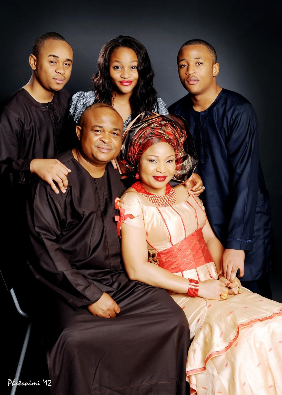 lovely family portrait in the studio