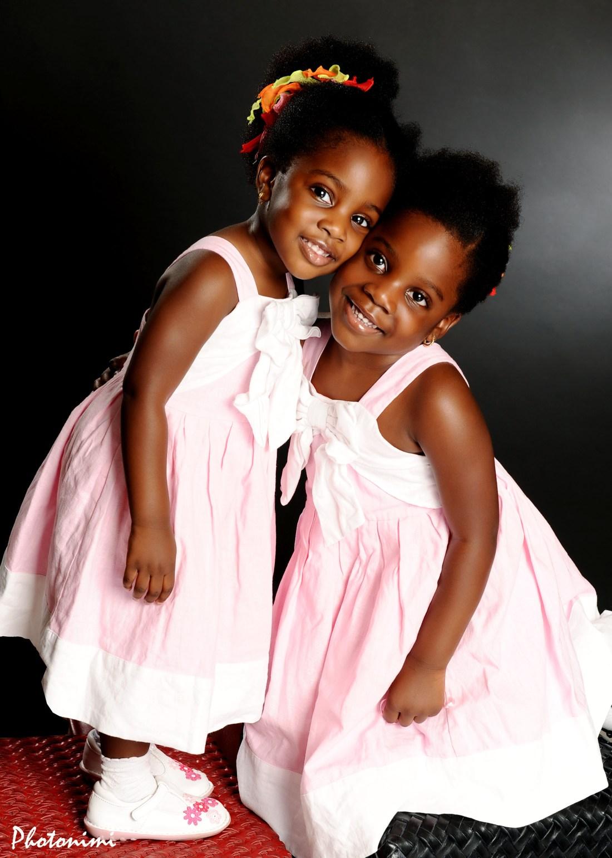 cute little princesses in the studio