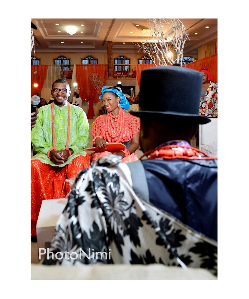 bride, groom, traditional itsekiri wedding attire outfit photonimi