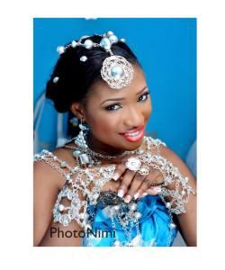 pretty bride in itsekiri attire