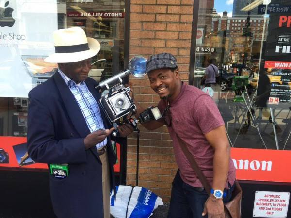 I met Mr Lewis Mendes passionately holding his vintage camera on 34th street in Manhattan, NY. He feels good with his camera which he bought in 1959