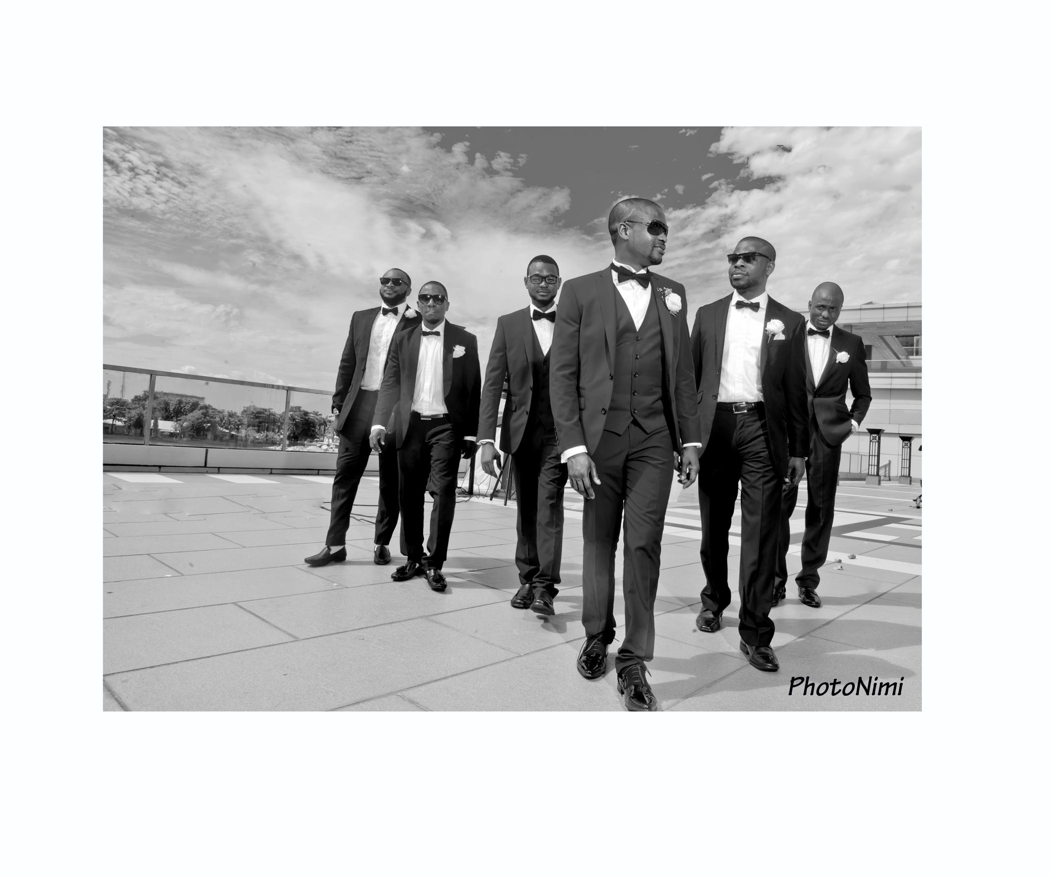 bridegroom and groomsmen