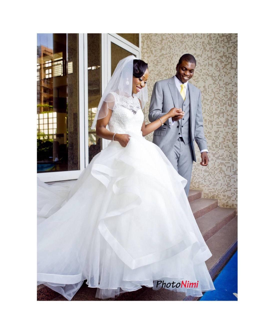 Mope and Niyi joyful after their church wedding