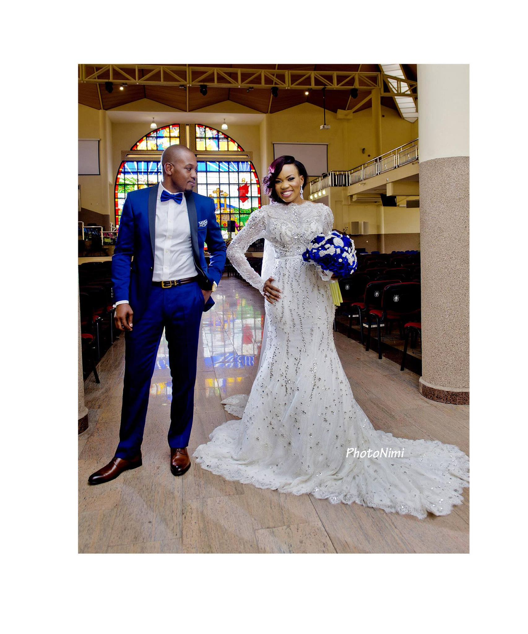 tobi & niyi, bride and groom