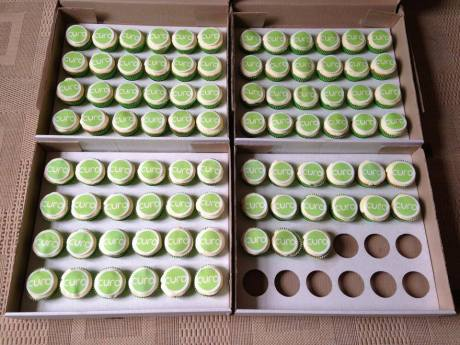Curo corporate logo cupcakes