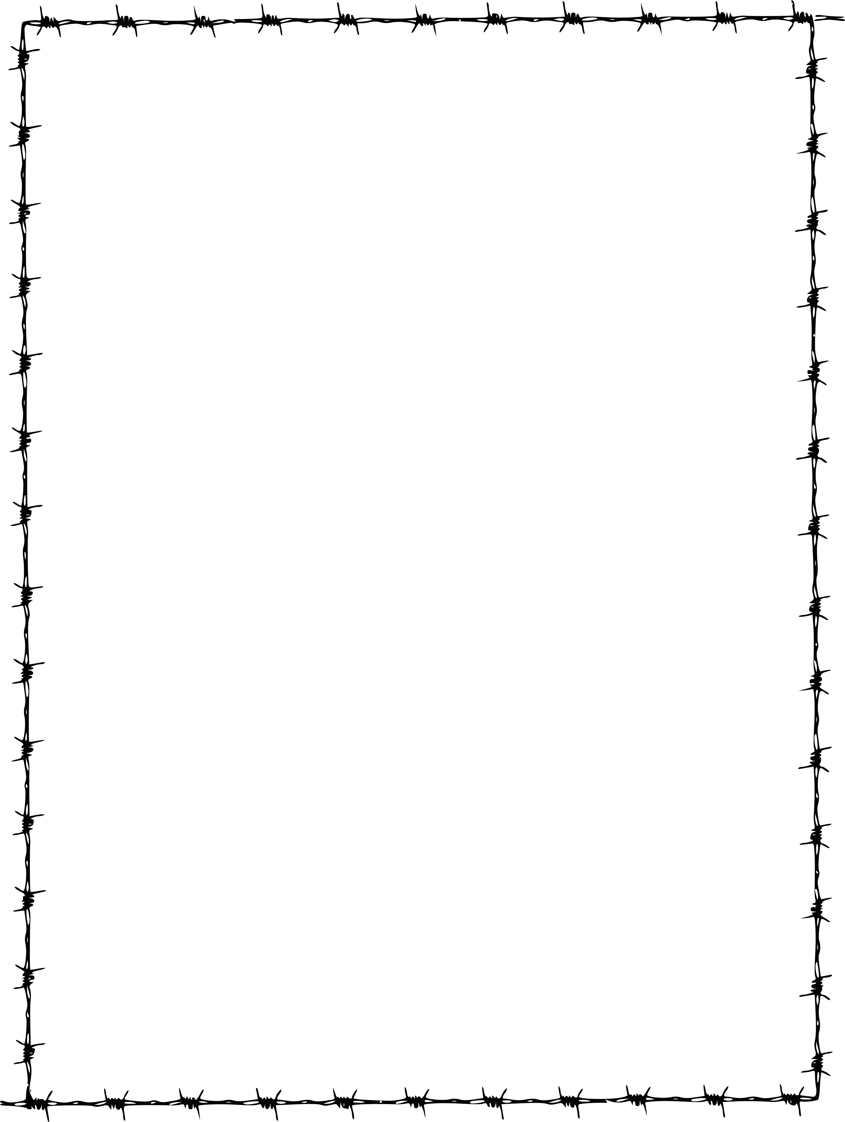 Barb Wire Frame Border
