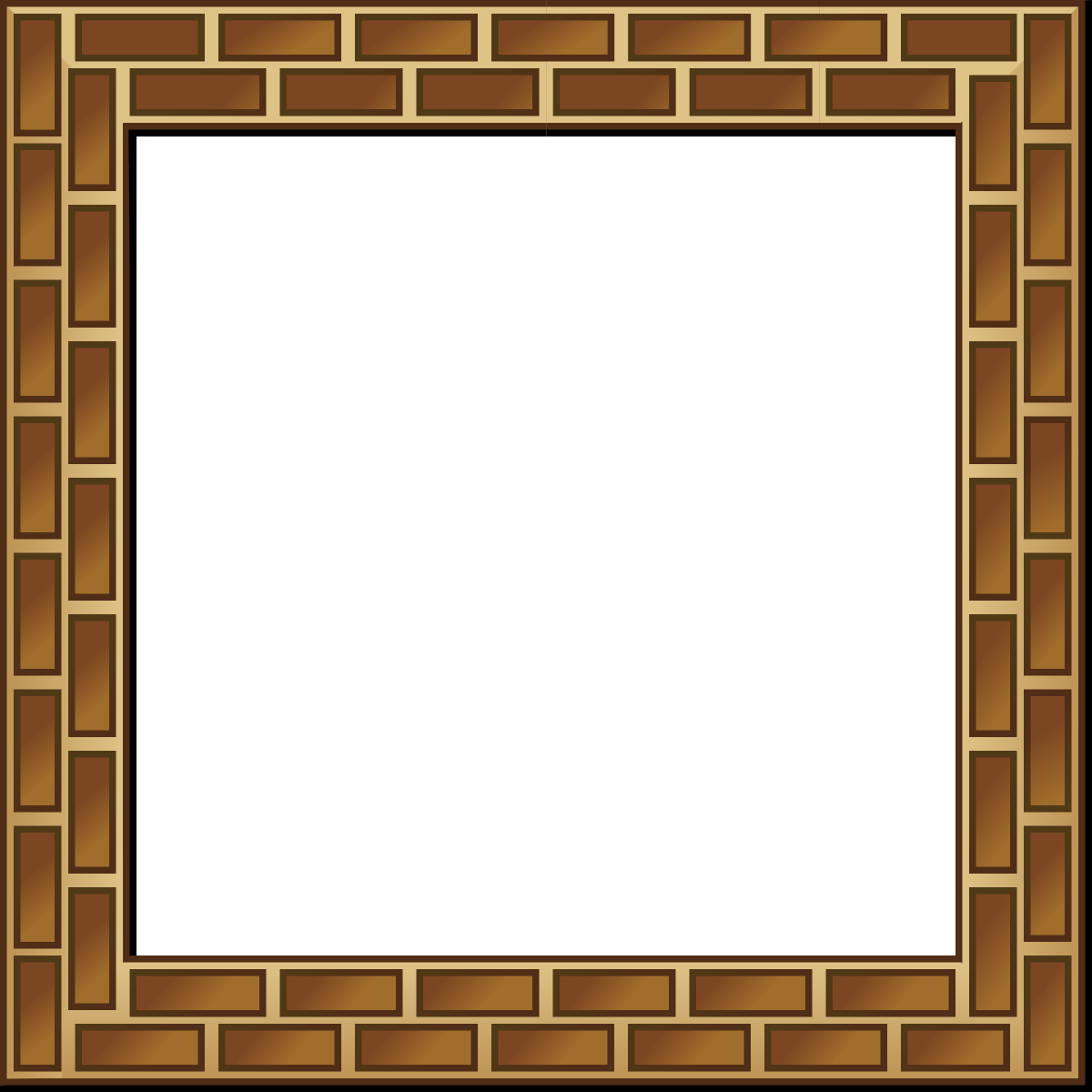 Brown bricks frame border