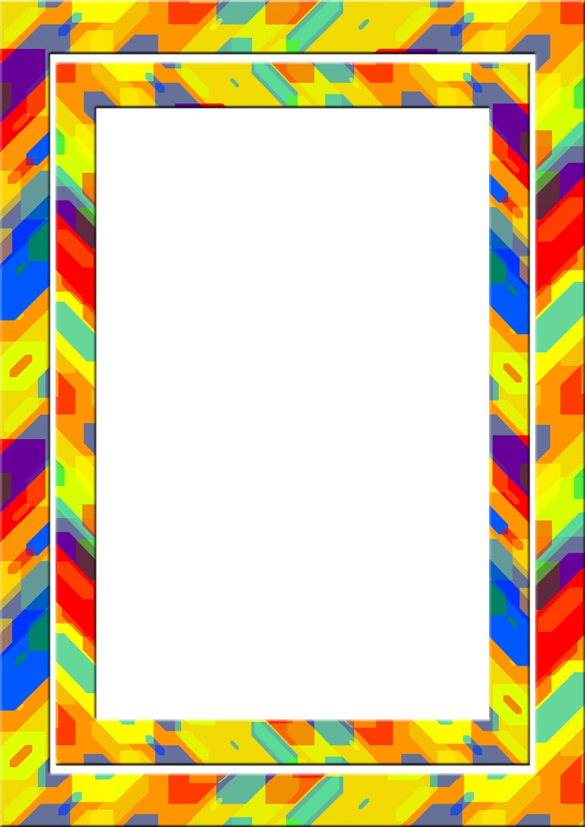 Colorful picture frame border