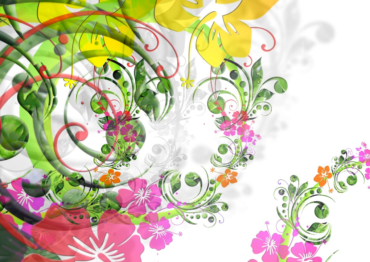 Floral abstract colorful background