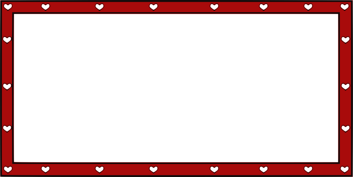 Red heart frame border