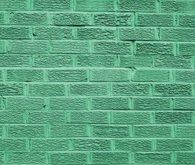 Green Colored Brick Wall Texture