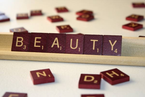 Beauty - Free High Resolution Photo of the word Beauty spelled in Scrabble tiles