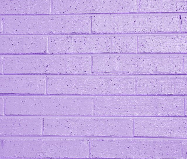Lilac Or Lavender Painted Brick Wall Texture