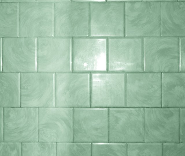 Green Bathroom Tile With Swirl Pattern Texture