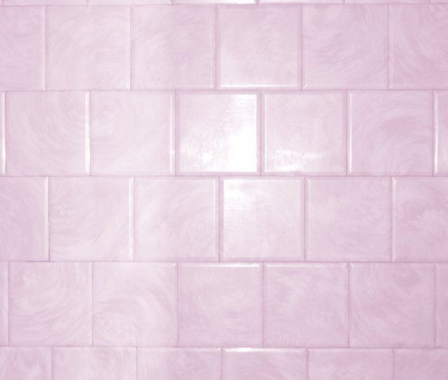 Pink Bathroom Tile With Swirl Pattern Texture