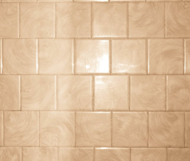 Tan Bathroom Tile With Swirl Pattern Texture