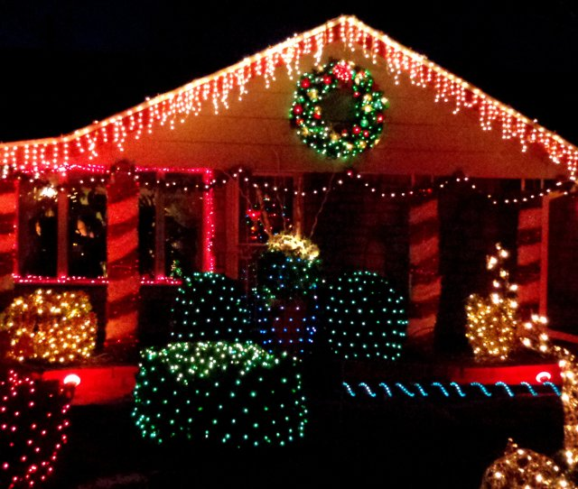 Christmas Lights Decorating House