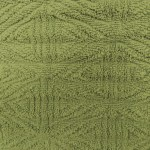 Olive Green Textured Throw Rug Close Up Picture Free