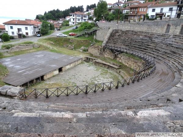 Antiek Theater van Ohrid (Macedonië)