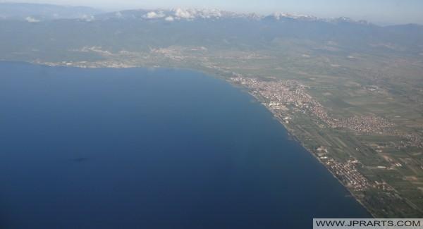 Струга антенски поглед (Македонија)