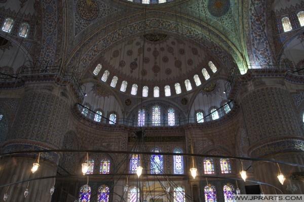 قبة التفاصيل من المسجد الأزرق (اسطنبول، تركيا)