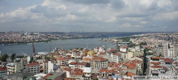 İstanbul'da Boğaz havadan görünümü