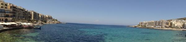 Обзорный вид на залив Марсалфорн (Гозо, Мальта)