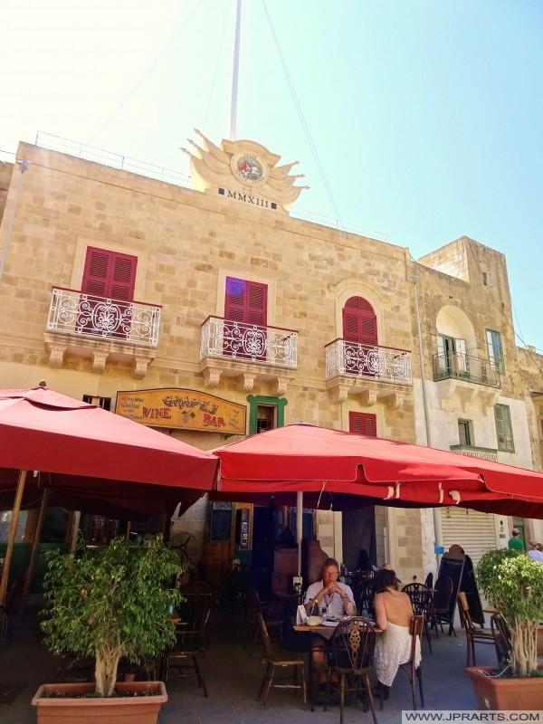 "Weinbar ""Grapes"" in Victoria, Gozo, Malta"