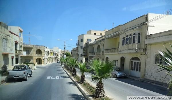 Vue sur la rue de Gozo, à Malte