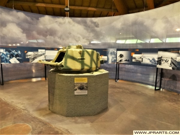 French APX-R Tank Turret which was mounted on a Tobruk of the Atlantic Wall (Museum of the Battle of Normandy in Bayeux, France)