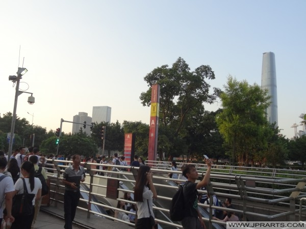 Metro station Canton Tower in Guangzhou, China