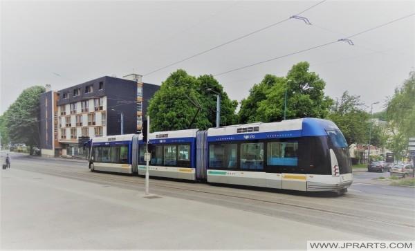 Trolleybus à Caen, France