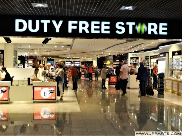 Duty Free Store at Madeira airport