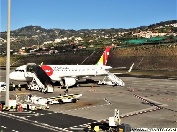 Plano TAP Portugal no Aeroporto da Madeira